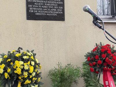 Gedenkveranstaltung an die jüdischen Opfer aus dem KZ-Außenlager Dachau-Allach