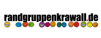 Randgruppenkrawall-Logo mit frechen Smileys