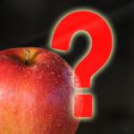 Apfel und Fragezeichen