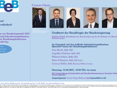 Einladung: Podiumsdiskussion zur Bundestagswahl 2021