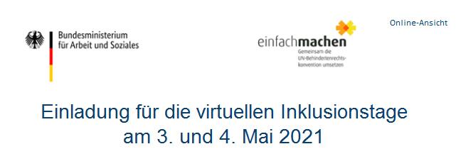Screenshot Header der Einladung vom BMAS