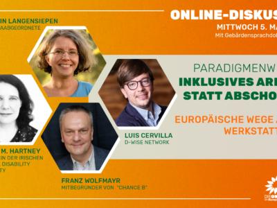 Online-Diskussion am 5.Mai: Europäische Wege aus dem Werkstattsystem