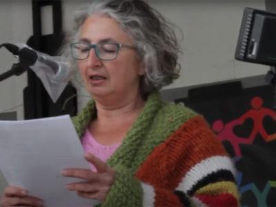 Rede von Alexandra Sahlender beim Randgruppenkrawall Behindertenprotest am 7.5.202