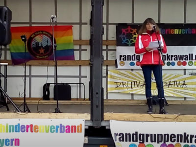 Rede von Beate Jenkner bei unserem Randgruppenkrawall-Behindertenprotest am 7.5.2021