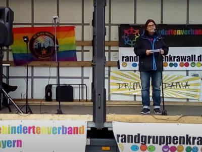 Rede von Brigitte Ziegler beim Randgruppenkrawall-Behindertenprotest am 7.5.2021