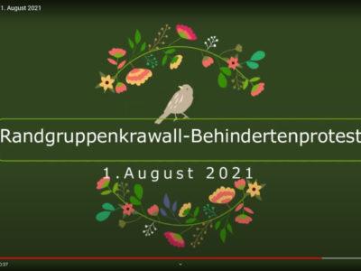Videos zur Demo am 1. August