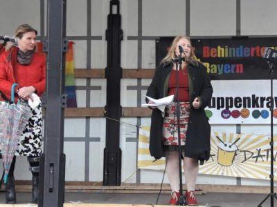 Rede von Gaby Kölbl Schuberth beim Randgruppenkrawall-Behindertenprotest am 7.5.2021
