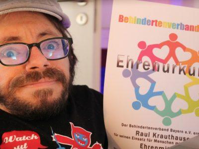 Raul Krauthausen ist nun Ehrenmitglied beim Behindertenverband Bayern e.V.