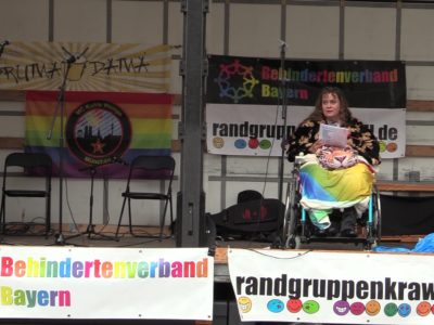 Die Videos vom Randgruppenkrawall-Behindertenprotest am 1. August 2021